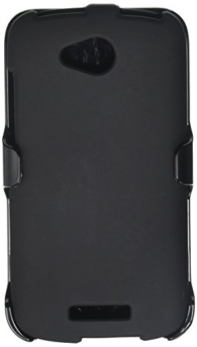 Beyond Cell 3-in-1 Combo Set Protector Case, Holster Belt Clip and Screen Guard for HTC One VX - Non-Retail Packaging - Black