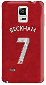 Stylizedd Samsung Galaxy Note 4 Premium Slim Snap case cover Matte Finish - Beckham Jersey