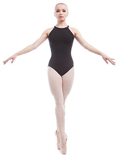 4d33ced00 Jual Dance Favourite Ballet Leotards Black Cotton Spandex Gymnastics ...