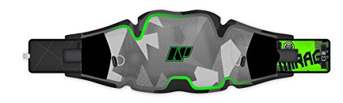 NP Surf Mirage Hybrid Waist Kite and Windsurfing Harness, Gun Metal/Green, X-Small