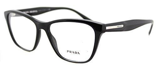 Prada PR04TV Eyeglass Frames 1AB1O1-54 - Black (Prada Eyeglasses Frame)