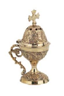Christian Byzantine Orthodox Greek Censer Incense Burner Liturgy (78b)