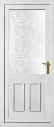 White Upvc Half Glazed Back Door 850mm W X 2090mm H Made To