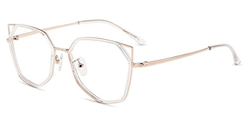 Firmoo Blue Light Blocking Glasses, Anti Eyestrain Computer Glasses, Womens Cateye Glasses Frames
