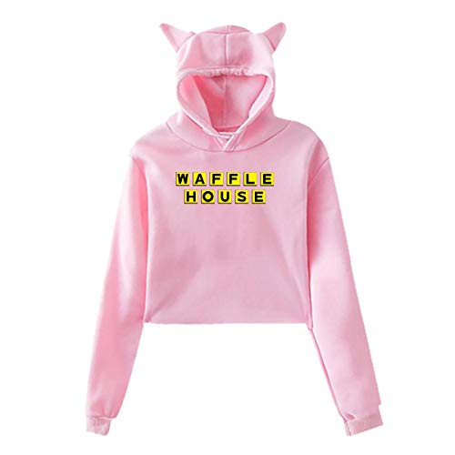Women's Casual Waffle House Tee T Shirt Long Sleeve for sale  Delivered anywhere in USA