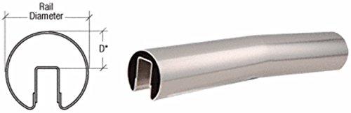 """CRL Polished Stainless 4 Degree Upper Incline Corner for 2"""" Diameter Railing"""