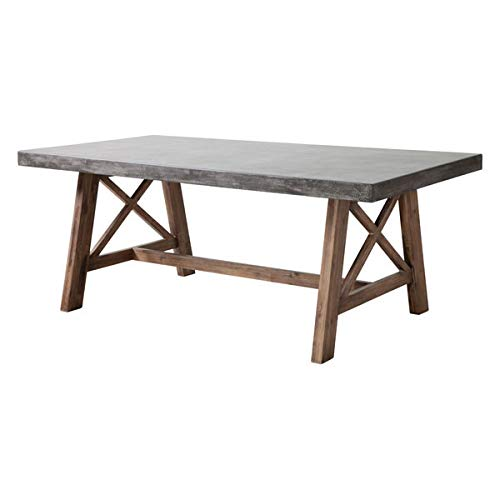 Zuo Ford Dining Table, Cement & Natural