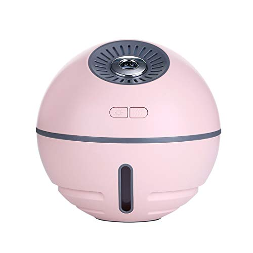Air Unit 2000 Pure - houmi Portable USB Humidifiers, Rechargeable Cordless 2000 mAh Battery Multicolor Air Humidifier with Fan and LED Light for Bedroom Office Travel (Pink)