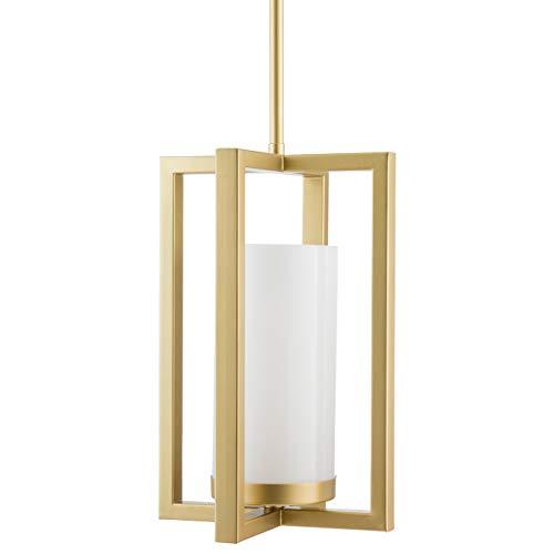 - Verona Contemporary Intersecting Pendant Light - Satin Brass - Linea di Liara LL-P13-3SB