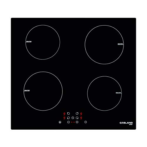 Induction Cooktop, Gasland chef 220V 24 Inch Built-in Induction Cooker, Vitro Ceramic Surface 24″ Electric Cooktop, 4 Burners Electric Stove Top, Kids Safety Lock & Easy To Clean