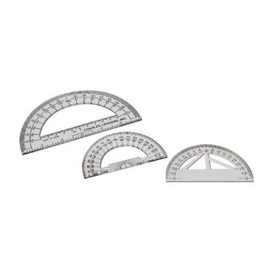 4 Protractor Plastic [Set of 16] by Charles Leonard