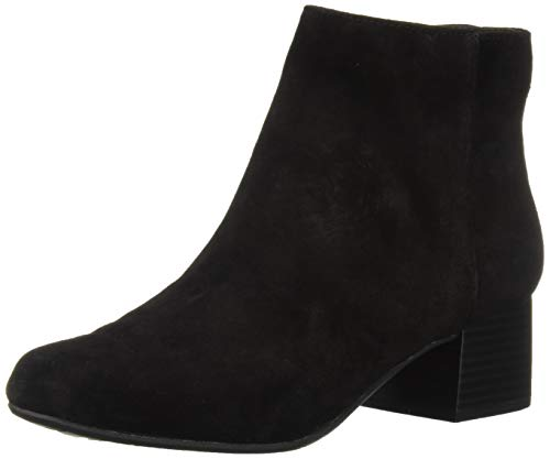 Suede Sandals Cole Kenneth (Kenneth Cole REACTION Women's Road Stop Block Heel Ankle Bootie Boot, Black, 11 M US)
