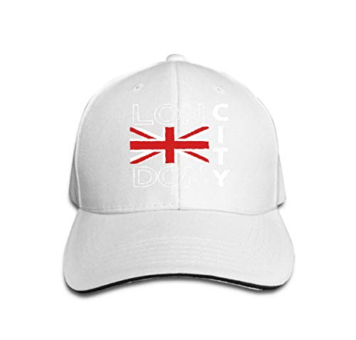 YILINGER Unisex Summer Fashion Cotton Baseball Cap Adjustable Trucker Hats London City Design Typography British Flag Fashion Printing SPO White -