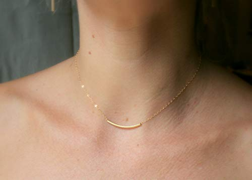 14k Gold Filled Necklace with tube ()