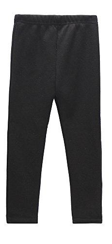 beloved lucia girls winter fleece lined leggings s016 black 12-13