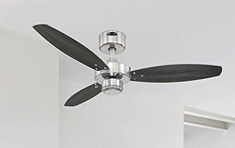 Westinghouse Lighting Jet I Ventilador de Techo, 47 W, Níquel ...