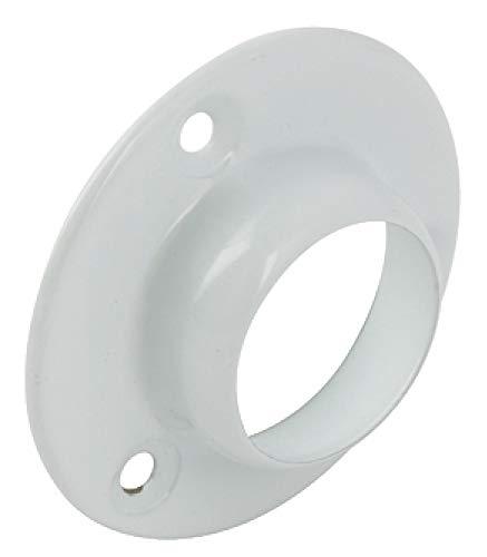 Penderie rond Tige Douille dextr/émit/é support Bracket Bagues Blanc 25/mm Heavy Duty X2