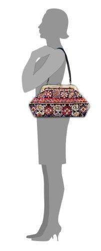 EXQUISITETessera Navy - Classico Gladstone tappeto incorniciato borsa forma lunga