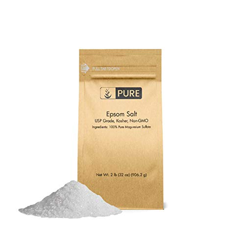 - Epsom Salt (2 lb.) by Pure Organic Ingredients, Magnesium Sulfate Soaking Solution, All-Natural, Highest Quality & Purity, USP Grade