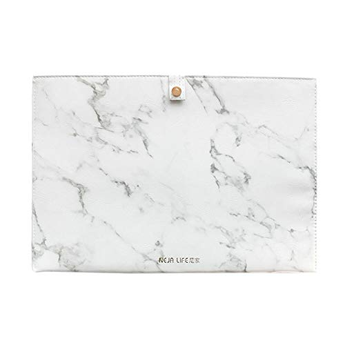 Luxury Marble File Folder Document Resume Organizer Clipboard Portfolio A4 Letter Size Waterproof File Holder (Marble White) by ANTIMAX (Image #1)