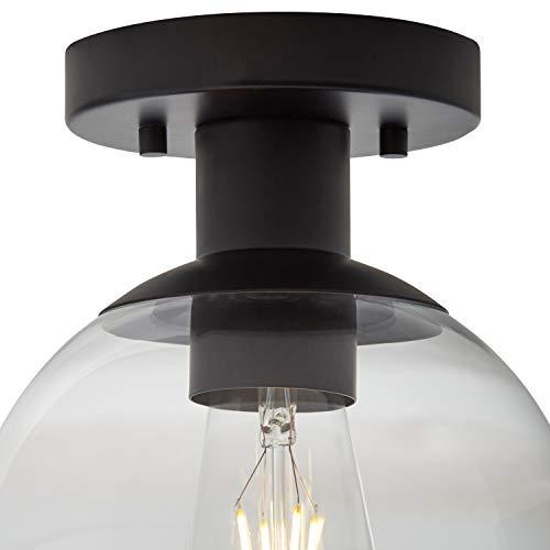Rivet Mid-Century Flush-Mount with Bulb, 8.875''H, Black by Rivet (Image #1)