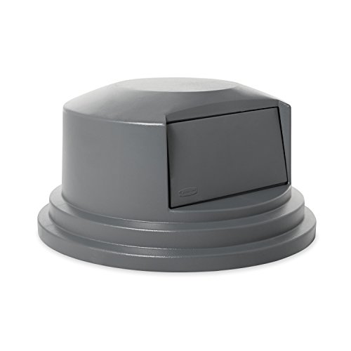 Rubbermaid Commercial BRUTE Trash Can Dome Lid,  Gray, 55 Gallon, FG265788GRAY