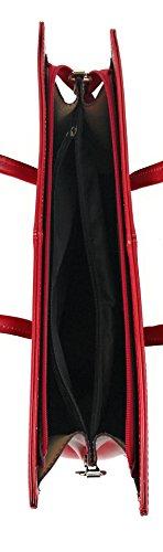 Zerimar Borsa a tracolla in pelle per donna Borsa a tracolla con grande capacità Pelle morbida Rosso