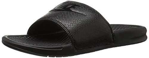 NIKE Men's Benassi Just Do It Slide Sandal, Black, 10 D(M) (Nike Lightweight Sandals)