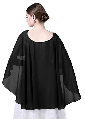 Wedding Capes Womens Soft Chiffon Cape Shawls and