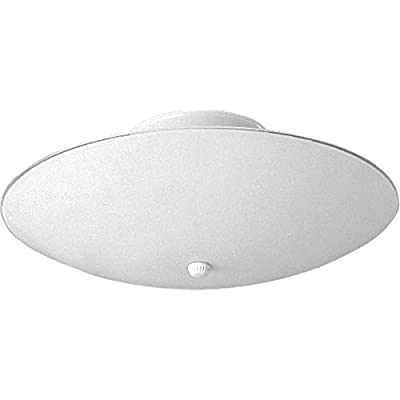 Progress Lighting P4609-30 Traditional Two Light Close-to-Ceiling from Round Glass Collection in White Finish, 12-Inch Diameter x 5-1/2-Inch Height