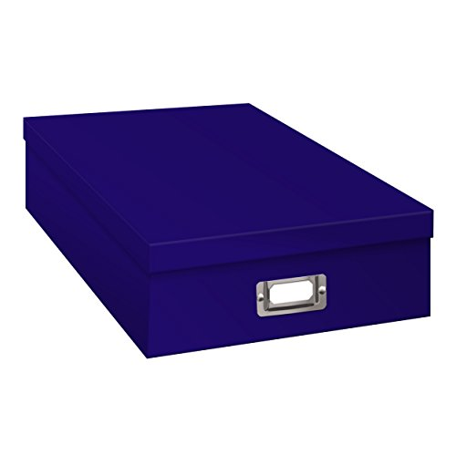 (Pioneer Photo Albums OB-12S Pioneer Jumbo Scrapbook Storage Box, Blue)