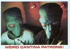 1977 Burger King Star Wars Weird Cantina Patrons Trading Card VG CONDITION