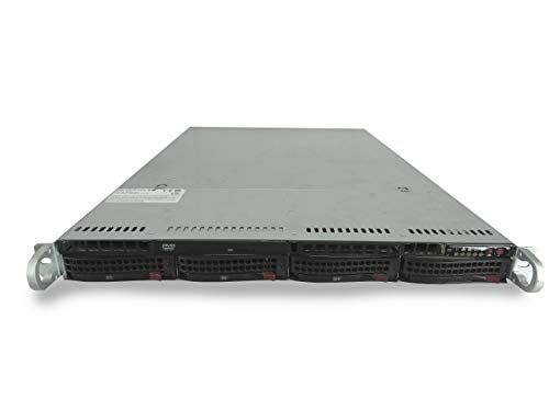 Supermicro SuperServer 6016T-NTF 4-Bay LFF 1U Server, 2X Xeon E5620 2.4GHz 4 Core 12MB, 8GB DDR3, 4X Trays Included, IPMI v2.0, 560W PSU, no Rail (Certified Refurbished)