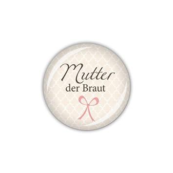 Button 25mm Ø DARLING Mutter der Braut