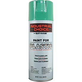 Rust-Oleum P1600 System Paint For Plastic Aerosol, Safety Green 16 Oz. Can - Lot of 6