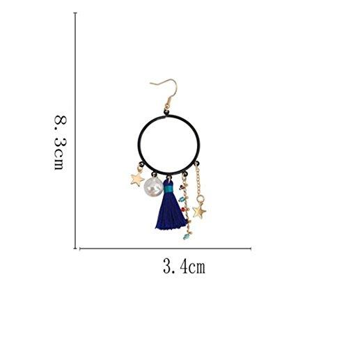 Cdet Boucles d'oreilles longues tendance pendantes longues boucles d'oreilles uniques boucles d'oreilles simples