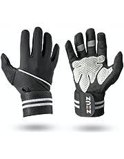 ZEUZ® Sport & Fitness Handschoenen Heren & Dames - Krachttraining – Crossfit Gloves – Volledige Bescherming Vingers - Grijs & Zwart