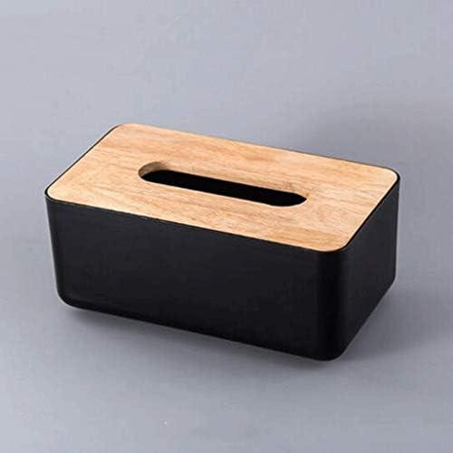 YWSZJ Cubierta de Caja de Tejido Cuadrada de bambú de Madera ...