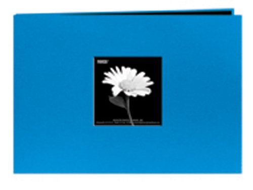 Pioneer 5 Inch by 7 Inch Postbound Fabric Frame Front Memory Book, Sky Blue by Pioneer Photo Albums