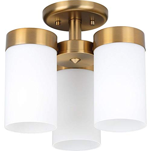 Progress Lighting P350040-109 Elevate Three-Light Flush Mount, Brushed Bronze ()