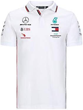 MAMGP 2020 - Camiseta polo oficial del equipo Mercedes-AMG F1 para hombre, Lewis Hamilton, color Polo Blanco, tamaño Mens (XL) Chest 112-116cm: Amazon.es: Deportes y aire libre