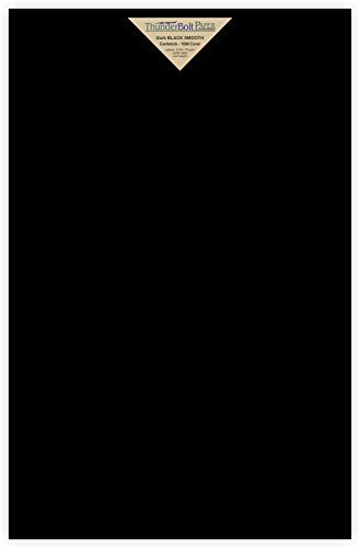 50 Dark Black Smooth Card Sheets - 100# (100 lb/pound) - 11