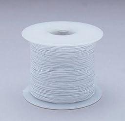 White Medium Elastic Cord, 100 Yard