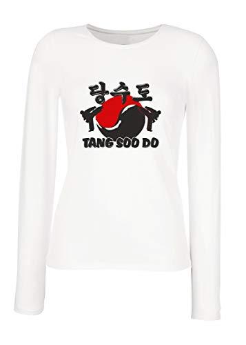 edaf5bd751 shirt Blanca Soo Manga Larga Las Tang Do Mujeres Para Wtc1492 T 7dqTwA7