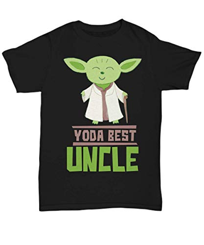 Gift Uncles - Yoda Best Uncle T-Shirt - Star Wars Funny Shirt Present - Unisex -