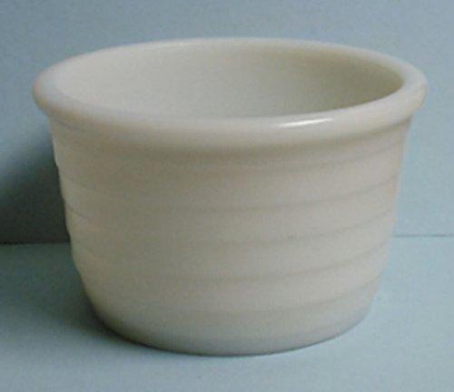 - White Milk Glass Ribbed Bowl