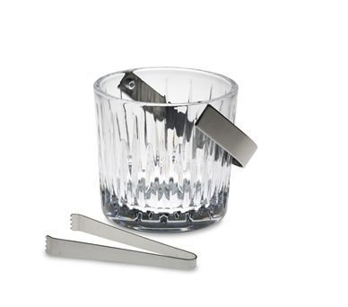 (By Reed & Barton SOHO ICE BUCKET W/ TONGS, 6