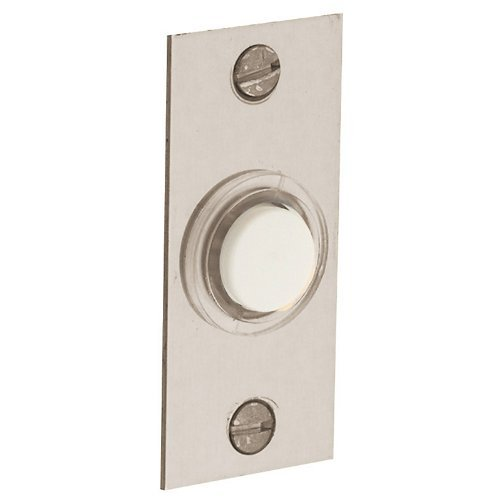 Baldwin 4853.150 Rectangular Doorbell Button, Satin Nickel