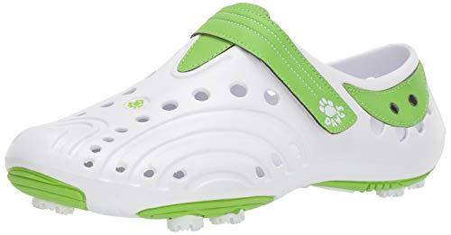 DAWGS Women's Golf Spirit Walking Shoe,White/Lime Green,11 M - Shoes 2013 Golf