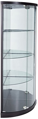 New Spec 432001 Corner Curio Cabinet, (Ash China Cabinet)